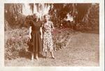 SaraMae Myers (on left) and friend, 1952,