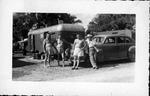 Photo of Myers men on vacation at Hollywood, Fla, Jan. 20, 1947