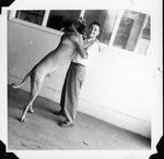 Bobbie Myers and Duke, Sept. 6, 1949