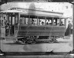 First electric streetcar, Huntington, W.Va.