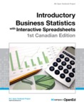 Introductory Business Statistics with Interactive Spreadsheets - 1st Canadian Edition