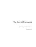 The Spec UI framework