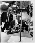 Stanley Ash, Prof of Science, & Philip Modlin, MU Science Fair, 1967