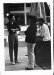 Renee Aderton, Janet Swinkfield & Karen Minter in front of MU Memorial Fountain