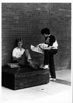 Freshmen Kevin Adkins, and John Hodge reading Parthenon