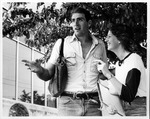 MU students Tim Bailey and Michelle Melbee on campus, 1982