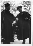 MU President Stewar Smith at MU graduation, ca. 1960's