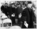 MU President Stewart Smith in graduation procession