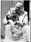 MU President Robert Hayes, with grandson, ca. 1980