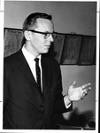MU professor and WSAZ news caster, Bos Johnson, ca. 1980
