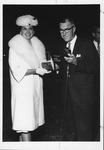 Huntington, W.Va. mayor John Durkin with key to the city, ca. 1961