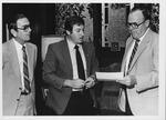 MU Pres. Robert Hayes, John Sanders & Bernard Queen