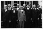 Huntington,WVa Board of Public Works, MU Pres. Stewart Smith on left