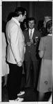 WVa Governor Jay Rockefeller (left) at Marshall reception, ca. 1980