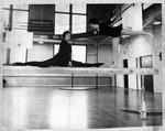 MU students and gymnasts Sue Ellen Reynolds (l) & Judy Coster (r),
