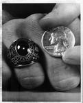 Photo of MU student class ring of 1965