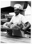 MU cook John Spotts with turkeys
