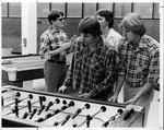 MU students Rick A. Starkey & Rick Dillion from Barboursville playing foosball