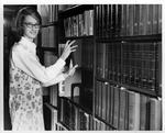 MU student Becky Stark in Morrow Library