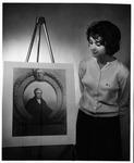 MU junior Barbara Smith from Belle, W.Va. looking at John Marshall protrait