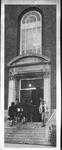 Students at door, South (campus) entrance, Morrow Library, pre. 1968
