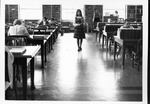 Students in main reading room, Morrow Library, ca. 1960's