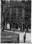 South (campus) entrance of Morrow Library, after 1968