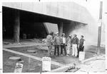 Pickets at construction of Cam Henderson center, Marshall Univ. campus, 1981