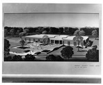 Architectural drawing of Marshall student center, before 1971