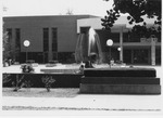Marshall Memorial Fountain and student center,soon after completion