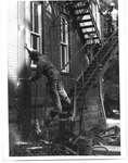 Workers repairing Old Main