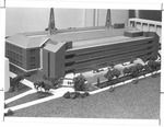 Architects model showing adddition to Science Building, Marshall campus