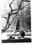 Student at Marshall Memorial Fountain