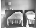 Bedroom at Donald Court, housing for married students at MU