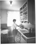 Kitchen at Donald Court, housing for married students at MU