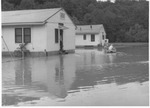 Donald Court during flood of summer 1961