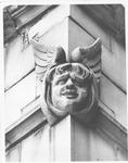 Architectural sculpture on the Women's Gymnasium (Original Phys. Ed. Bldg),