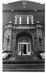 One of front doors of Women's Gymnasium (Original Phys. Ed. Bldg), ca. 1980