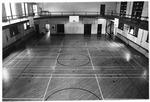Inside ball court of Women's Gymnasium (Original Phys. Ed. Bldg), ca. 1980