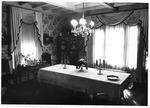 Dining room, Marshall President's home , ca. 1980