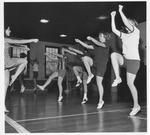 Marshall cheerleader practice directed by Karen Lofland