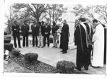 Memorial ceremony MU plane crash monument, Spring Hill Cemetery, Huntington
