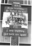 Display in support of Young Thundering Herd football team, 1971