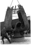 Placing the Marshall Memorial Fountain, ca. 1971