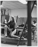 Noncy Kirk, model for MU art class, ca. 1970's