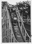 Wooden roller coaster at Camden Park, Summer 1975