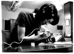 Engraving items at the Campus Security Office, ca. 1970's