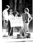 Free Chief Justice yearbook photo camera in front of MU Student Uhion,