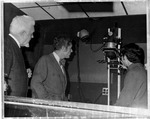 Journalism Prof's W. Page Pitt (l) and W. E. Chilton (mid) & photo equipment