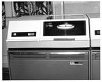 IBM 3211 computer disk storage drive in MU computer room, ca. 1968